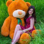 карамельный плюшевый медведь 2 метра