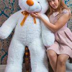 белый мишка рафаэль 140 см