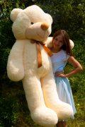 Кремовый большой плюшевый мишка рафаэль 160см